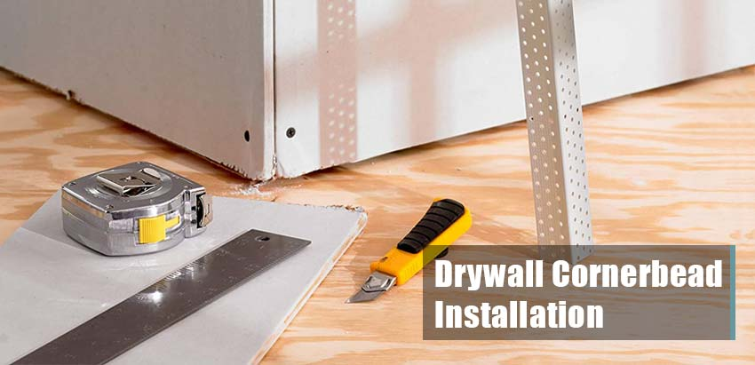 how to install paper faced drywall corner bead